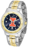 Illinois Fighting Illini  Competitor 2-Tone 23k Gold AnoChrome Stainless Steel Watch - Red Dial (Men's or Women's)