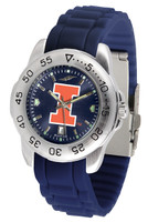 Illinois Fighting Illini  Sport AC™AnoChrome Watch - Red Silicone Band