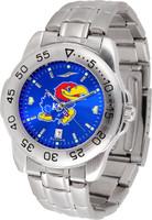 Kansas Jayhawks  Sport Stainless Steel AnoChrome Watch Color Dial (Men's or Women's)