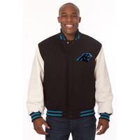 *Carolina Panthers Heavyweight Leather and Wool Jacket