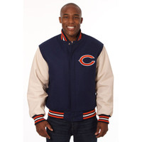 *Chicago Bears Heavyweight Leather and Wool Jacket