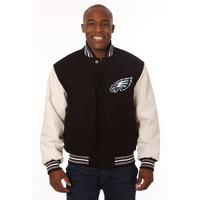 *Philadelphia Eagles NFL Men's Heavyweight Wool and Leather Jacket