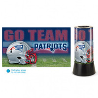 New England Patriots Rotating Team Lamp