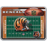 Cincinnati Bengals Glass Cutting Board