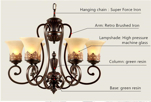 Mayflower  LED pendant lights  Iron retro American country living room  bedroom  restaurant ;Horizon-lights