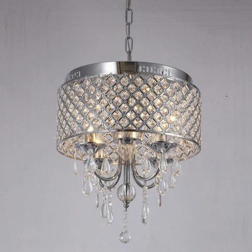 Crystal LED Chandelier light European Style Iron Pendant Light ...