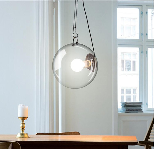 clear glass pendant lights philips led bulbs similar to artemide