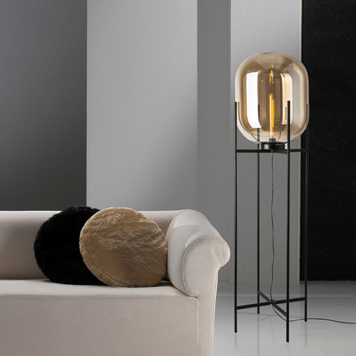 Modern Floor Lamp Singapore: Glass Shade Table Lamp Floor Lamp Modern Style Modified
