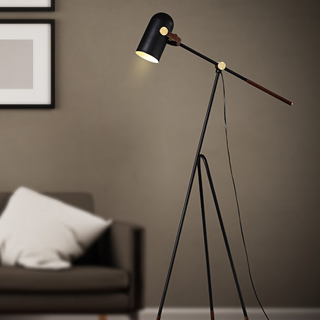 LED Floor L& Carronade Low Shape metal shade Modern Style from Singapore best online lighting shop & LED Floor Lamp Carronade Low Shape metal shade Modern Style ...
