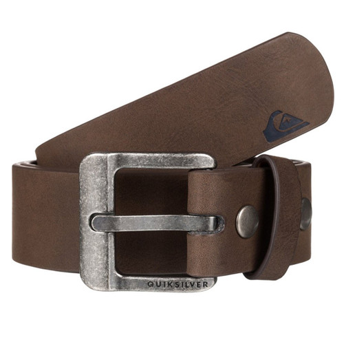 Quiksilver Main Street II Faux Leather Belt - Chocolate 476