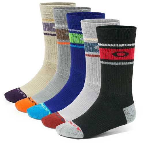 Oakley Socks - Perform Crew 5-PK Assorted