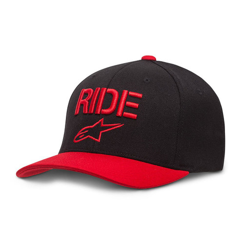 Alpinestars Hat - Ride Curve - Red/Black
