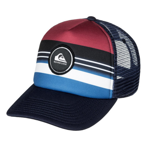 Quiksilver Hat - Striped Vee - Chili Pepper