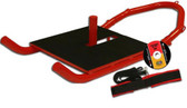 GoFit Super Weight Sled -Steel Construction with Harness & Tether- Red