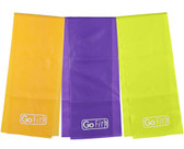 GoFit Latex-Free Flat Band Set with Exercise Booklet- 6' x 5""