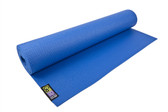 GoFit Yoga Mat with Yoga Pose Wall Chart - Blue