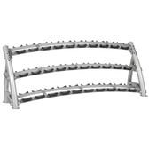 Hoist CF 3461-3 Commercial (3) Tier Horizontal Dumbbell Rack