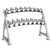 Hoist CF 3462-2 Commercial (2) Tier Horizontal Beauty Dumbbell Rack