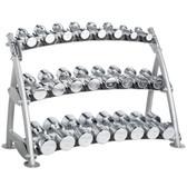 Hoist CF 3462-3 Commercial (3) Tier Horizontal Beauty Dumbbell Rack