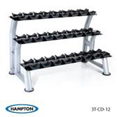 Hampton Chrome Dumbbell Saddle Racks