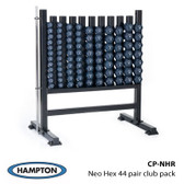 Hampton Neo-Hex Neoprene Coated Cast Iron 44 Pair Club Pack Set