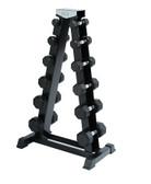Spri A-Frame Dumbbell Rack for Deluxe Rubber Dumbbells