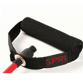 Spri Red Xertube With Foam Handle (Medium Resistance)