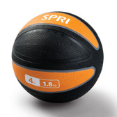 Spri Orange Xerball Medicine Ball - 4lb