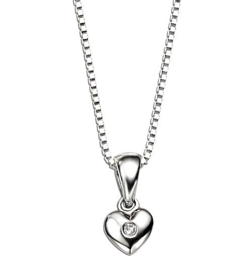 D for Diamond Heart Pendant P620