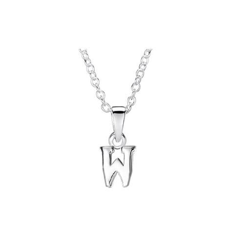 Jo For Girls Silver Initial Pendant - W