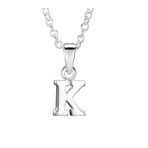 Jo For Girls Silver Initial Pendant - K
