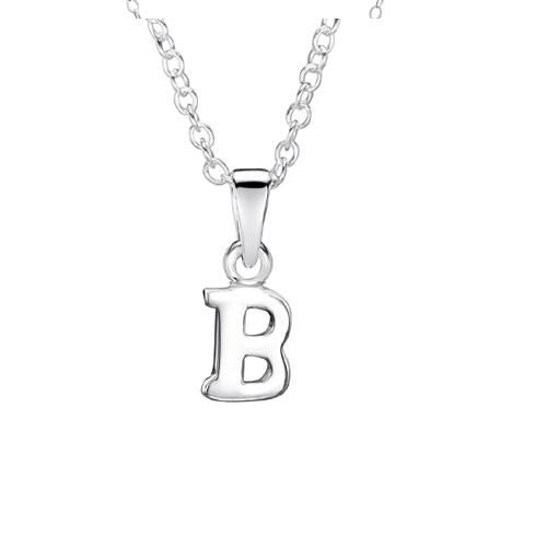 Jo For Girls Silver Initial Pendant - B