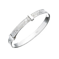 Engraved Silver Baby Bangle - B684 - 41mm