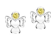 Jo For Girls November Birthstone Angel Stud Earrings