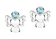 Jo For Girls March Birthstone Angel Stud Earrings