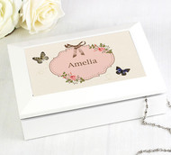 Personalised Delicate Butterfly Wooden Jewellery