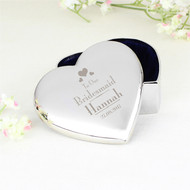 Personalised Wedding Bridesmaid Heart Trinket