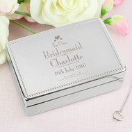 Bridesmaid personalised jewellery box