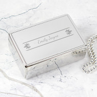 Personalised Pretty Petals Jewellery Box