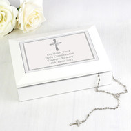 Personalised memory box with cross