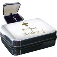 On Your Christening Cross Pendant and Gift Box