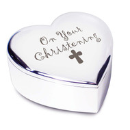 On Your Christening Heart Trinket Box