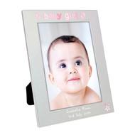 Personalised Baby Girl Photo Frame