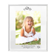 Personalised Mirrored Butterfly Swirl Glass Photo Frame