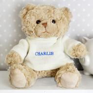 Personalised Blue Name Teddy Bear