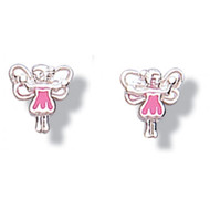 Jo For Girls Pink Dress Fairy Earrings - CE44P