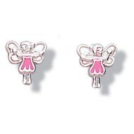 Jo For Girls Pink Dress Fairy Earrings - CE44P