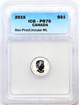 2015 Silver $1 ML PR70 ICG Rev. Proof blue label