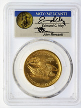 2015-W $100 Liberty Gold MS70 PCGS High Relief First Strike Moy and Mercanti signed label