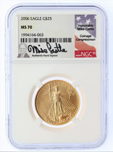 2006 $25 Liberty Gold Eagle MS70 NGC Mike Castle
